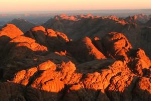 Sonnenaufgang auf dem Berg Moses
